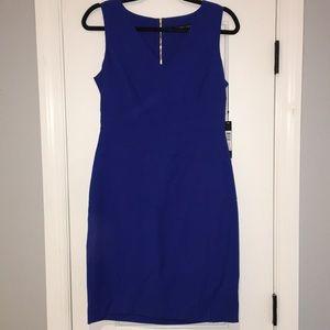 Royal Blue VNeck Dress